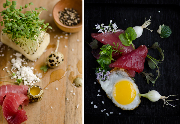 sushi, oeuf, caille,sel, food photography